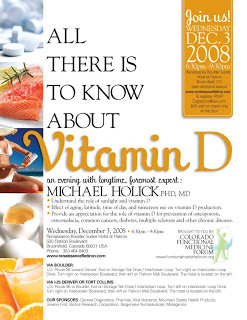 Michael Holick, Vitamin D Lecture in Broomfield CO, December 3, 2008